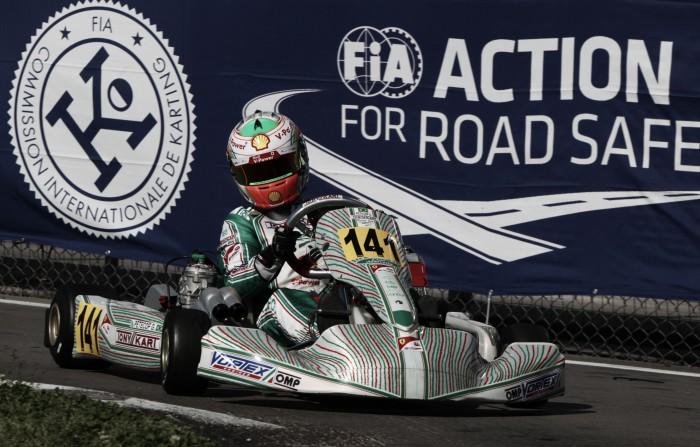 Gianluca Petecof vence pela primeira vez no Europeu de Kart da FIA
