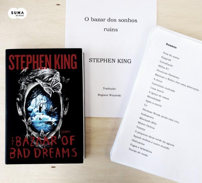 O bazar dos sonhos ruins de Stephen King é revelado pela Suma de Letras