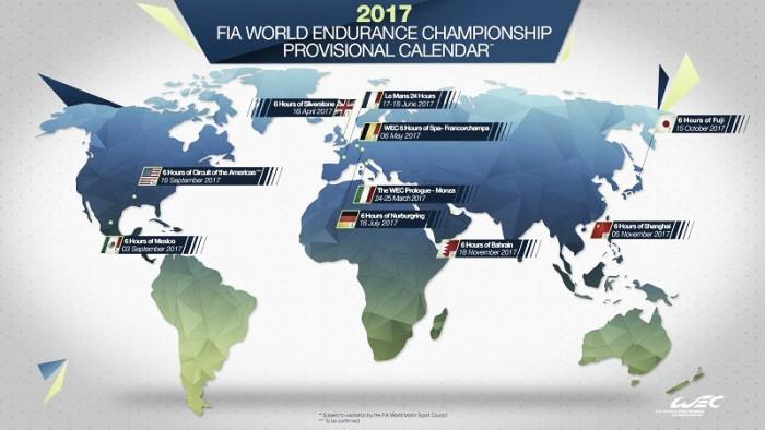 Com Monza no calendário, WEC divulga pistas para 2017