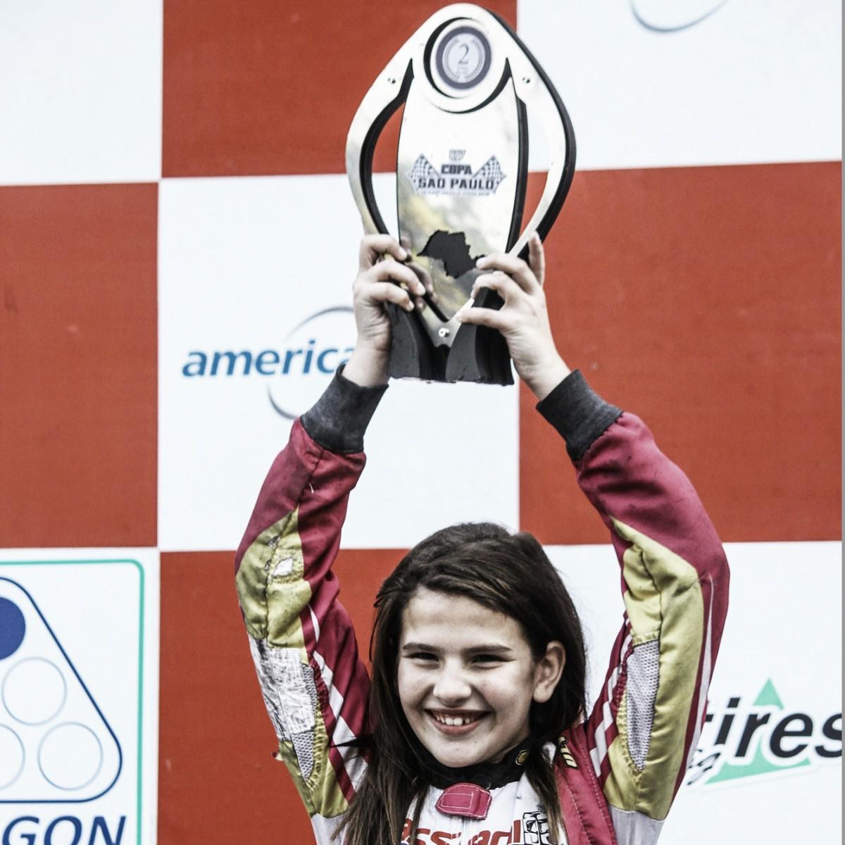 Antonella Bassani vence na Rotax Mini Max e comemora pódio na Copa São Paulo de Kart