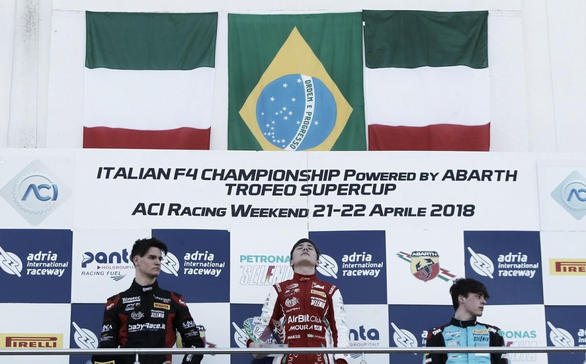 Enzo Fittipaldi vence na abertura da Fórmula 4 na Itália