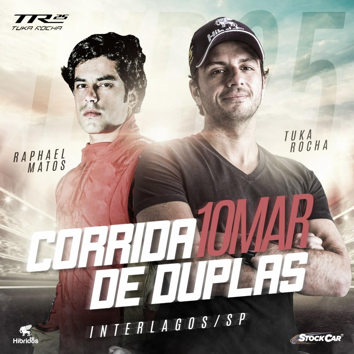 Tuka Rocha e Rafa Matos formam dupla experiente na Stock Car