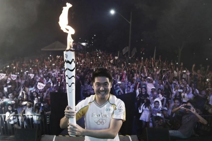 Rafael Suzuki encerra Revezamento da Tocha Olímpica pelo Nordeste