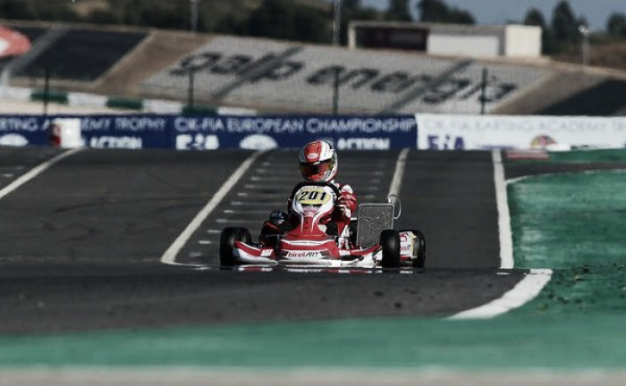 Caio Collet conquista mais um pódio no Europeu de Kart em Portugal