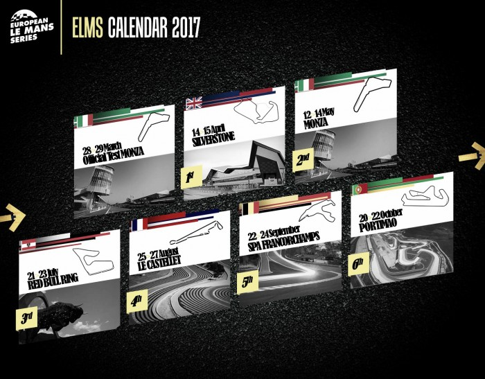 European Le Mans Series divulga calendário para 2017