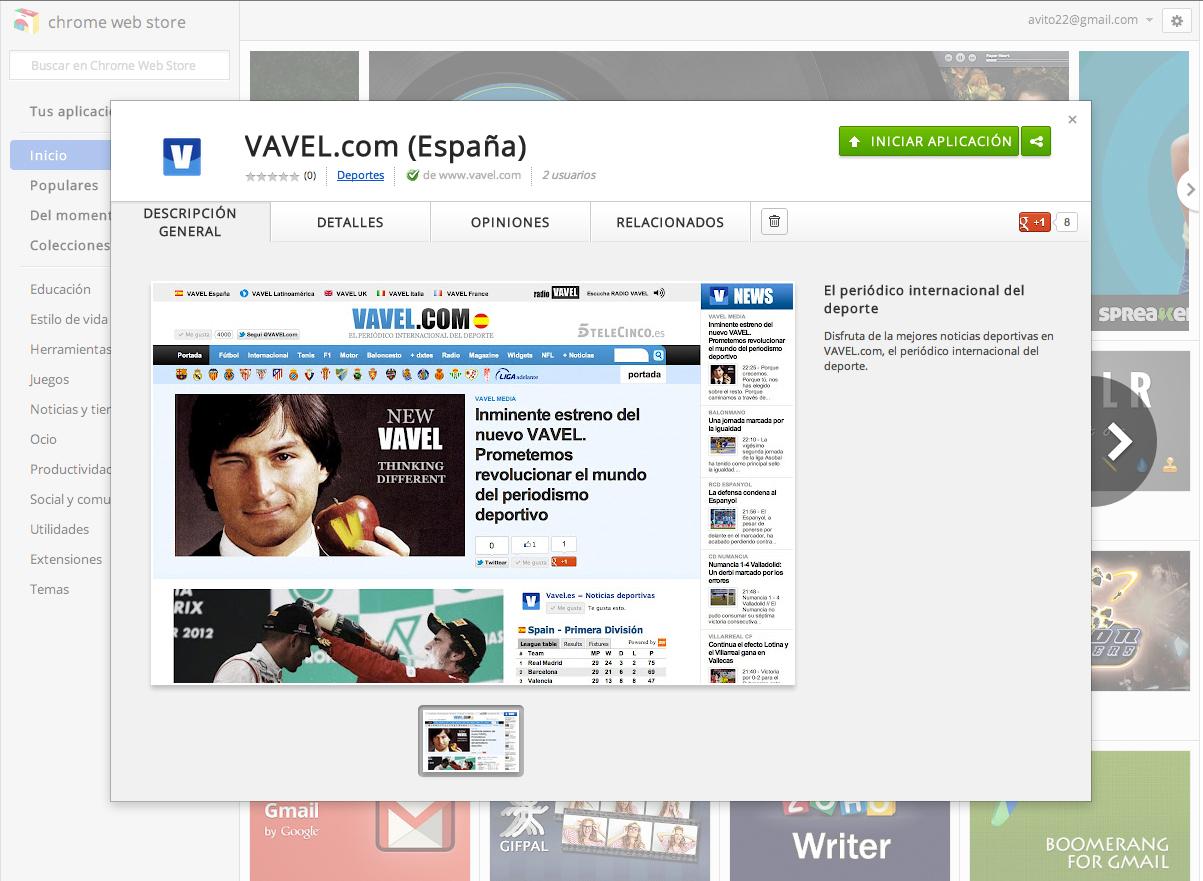 VAVEL.com estrena app para la Chrome Web Store. ¡Ya puedes descargarla!