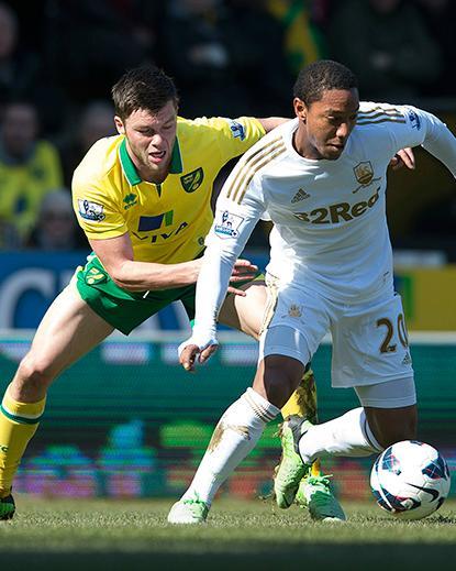 Norwich y Swansea empatan en un buen partido