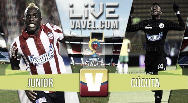 Resultado Atlético Junior - Cúcuta Deportivo en Liga Águila-II 2015 (2-0)