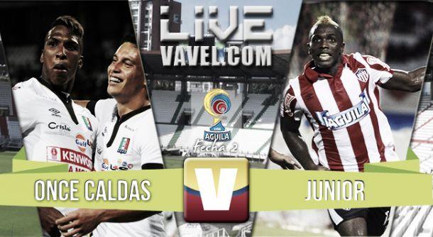 Resultado Once Caldas - Junior en la Liga Águila II 2015 (1-1)
