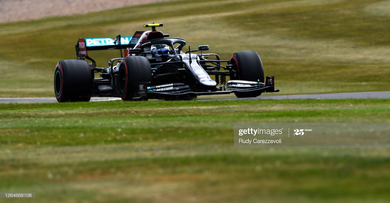 Valtteri Bottas takes pole at 70th Anniversary GP on medium tyres