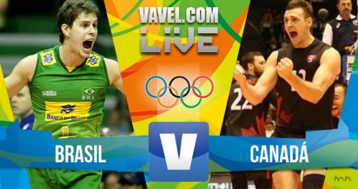 Resultado Brasil 3-1 Canadá no vôlei masculino dos Jogos Olímpicos
