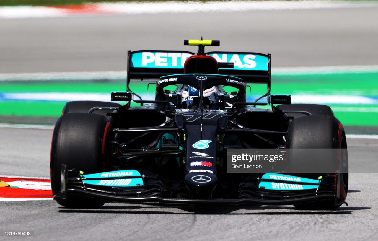 Valtteri Bottas continues one lap pace in Spain 2021 - FP1