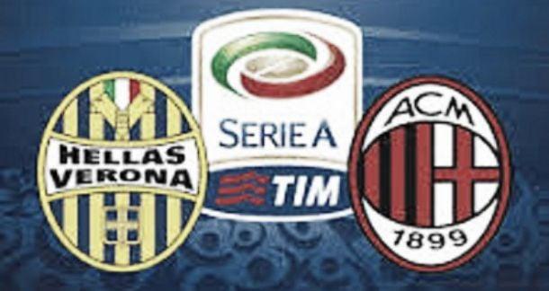 Live Verona-Milan in Serie A