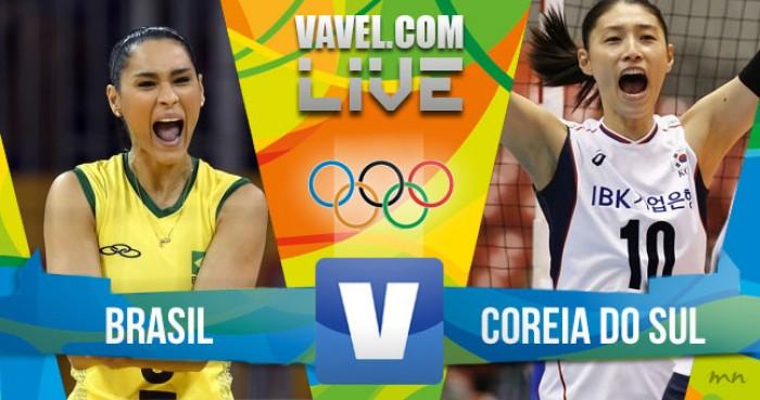 Brasil vence a Coreia do Sul no vôlei feminino dos Jogos Olímpicos (3-0)