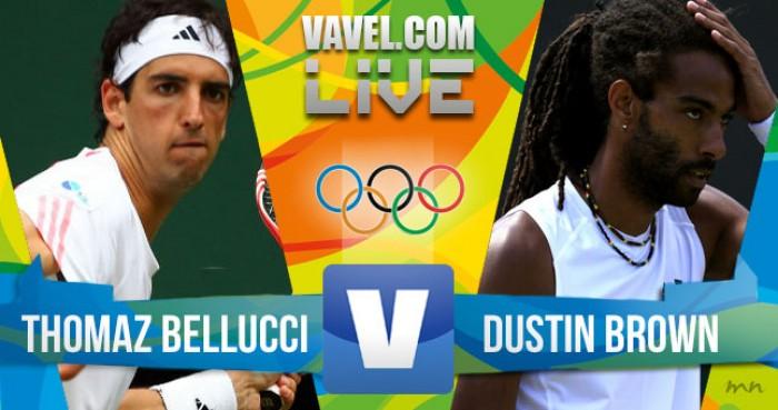 Resultado Thomaz Bellucci x Dustin Brown no tênis masculino dos Jogos Olímpicos