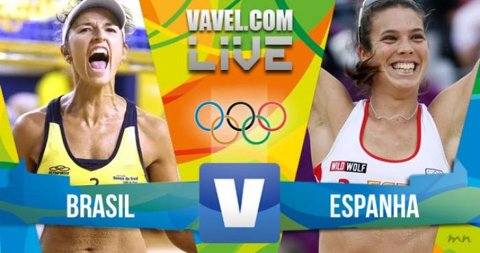 Vôlei de Praia feminino: Brasil x Espanha no Rio (0-2)