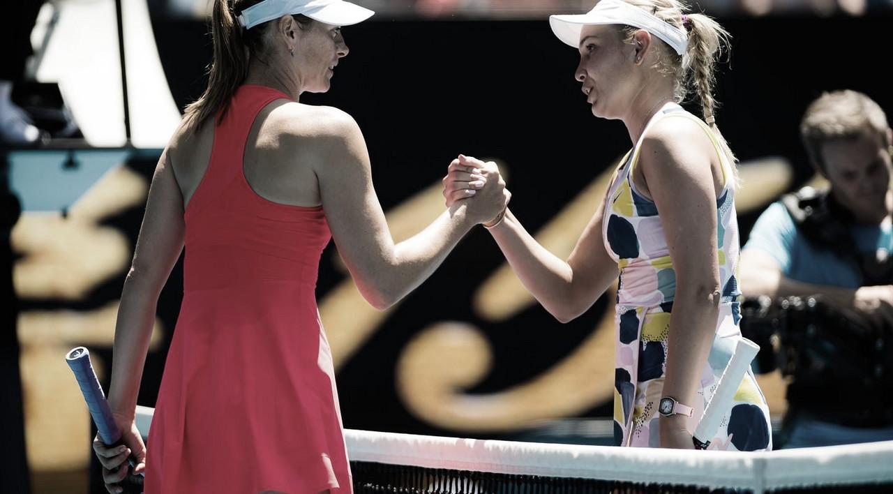 Vekic vence Sharapova com autoridade e avança à segunda rodada em Melbourne