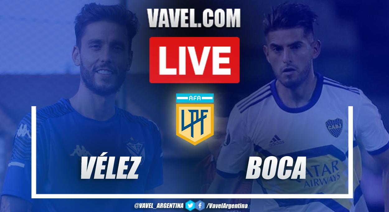 Resumen Vélez vs Boca (1-7) en la fecha 4 por Copa de la Liga Profesional 2021