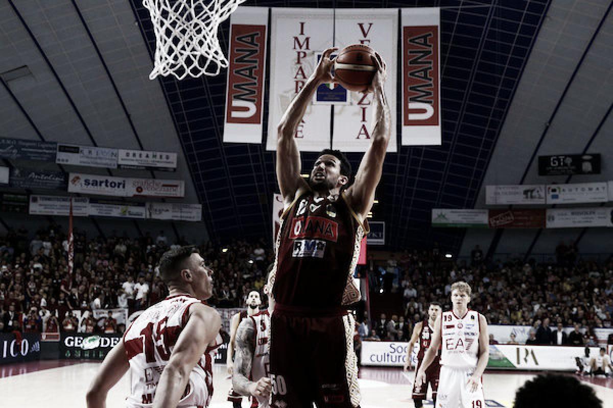 LegaBasket Serie A - Venezia batte Milano e si prende il primo posto (89-86)