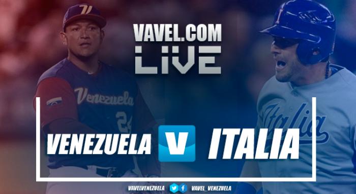 Resultado y vídeos Venezuela vs Italia por juego Clásico Mundial Béisbol 2017 (4-3)