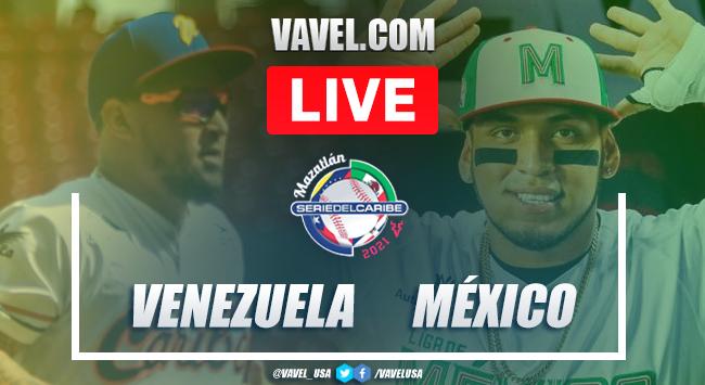 Resumen y Carreras: Venezuela 3 - 4 México en Serie del Caribe 2021