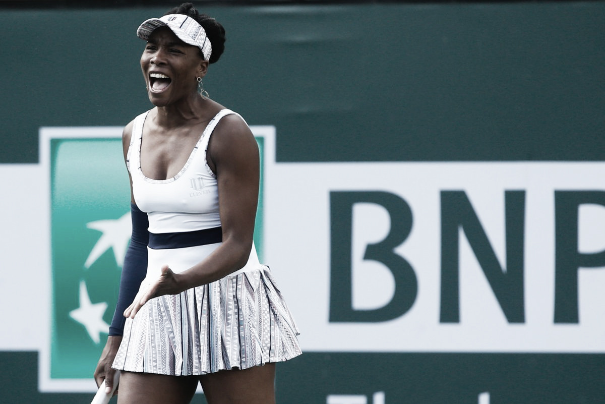 Venus Williams consegue incrível virada e elimina Petra Kvitova em Indian Wells