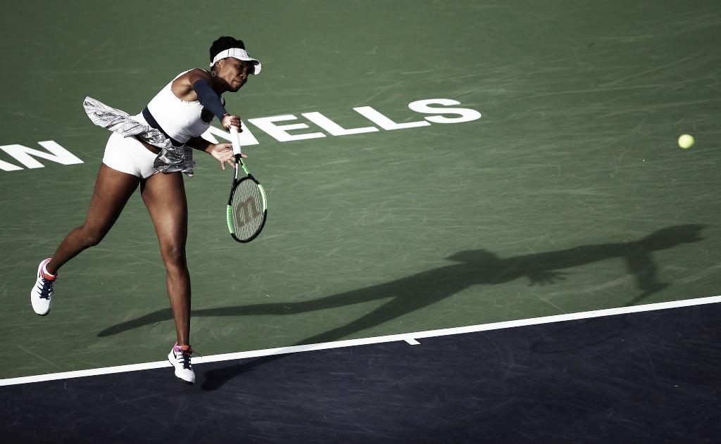 Venus Williams mantém boa fase, bate McHale e está nas oitavas em Indian Wells