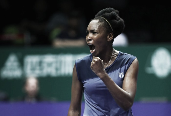 WTA Finals: Venus Williams prevails over Jelena Ostapenko in three-hour thriller