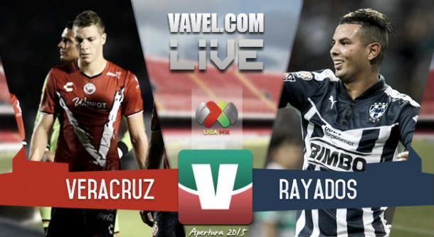 Resultado Veracruz - Rayados Monterrey en Liga MX 2015 (2-1)