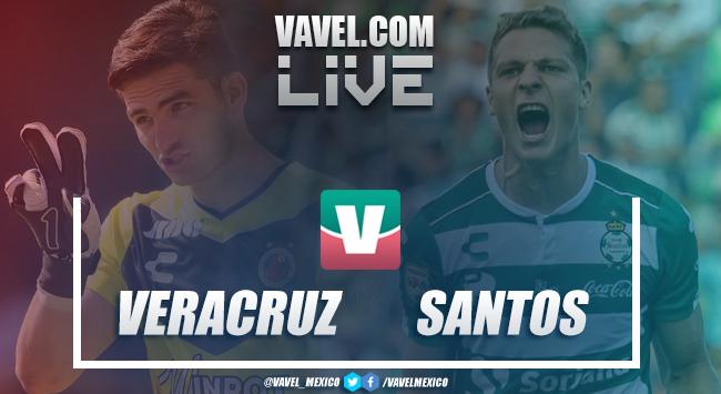 Resultado y goles del Veracruz vs Santos (2-2)