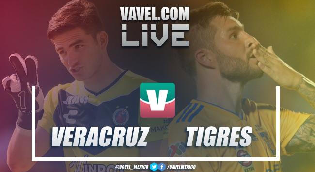 Resumen y goles Veracruz 0-2 Tigres en Liga MX 2019