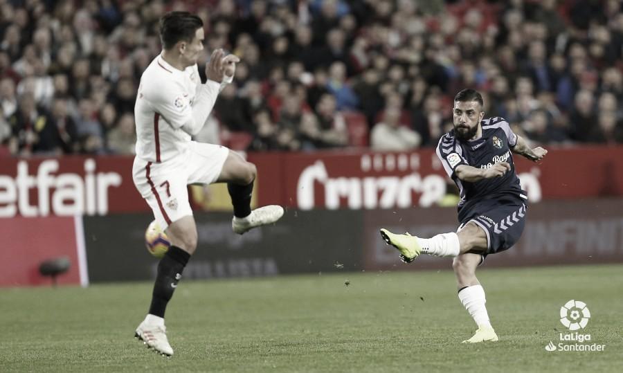 El Real Valladolid lleva nueve partidos seguidos puntuando en Zorrilla ante el Sevilla