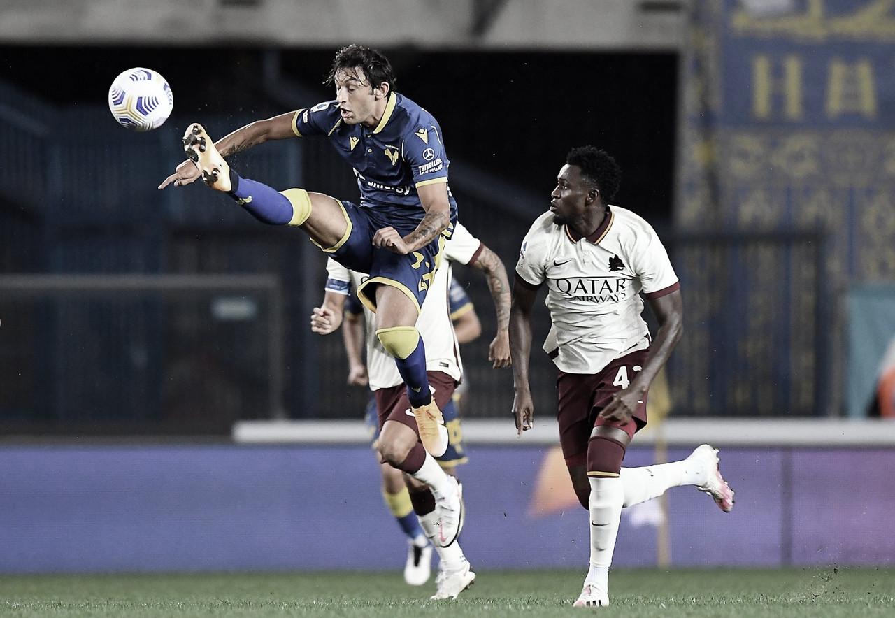 Com três bolas na trave, Verona e Roma não saem do zero na Serie A