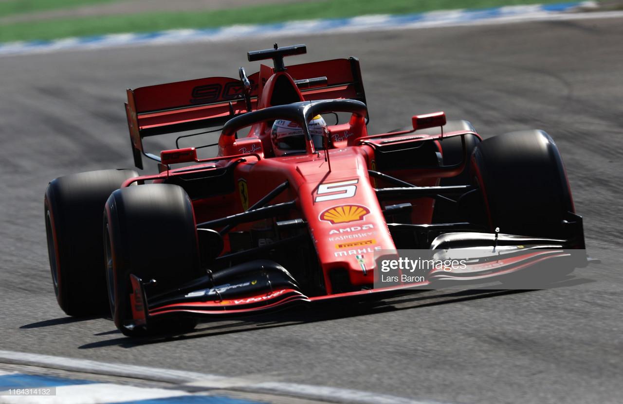Vettel heads Ferrari one-two in FP1