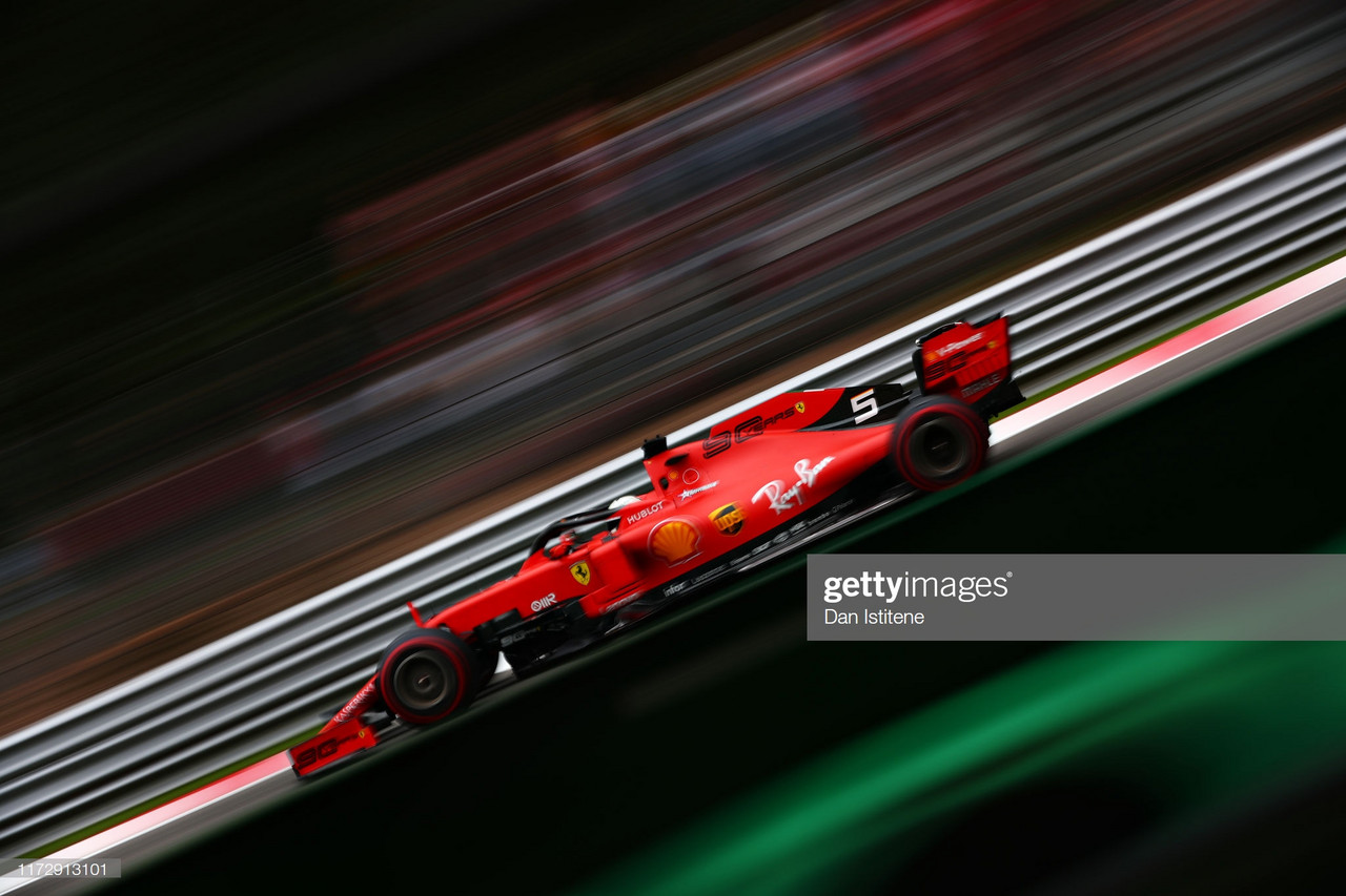 Vettel edges Verstappen to top FP3