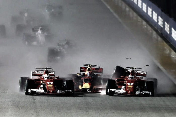 """Verstappen diz que Vettel """"não foi muito inteligente"""" e culpa alemão por incidente em Cingapura"""
