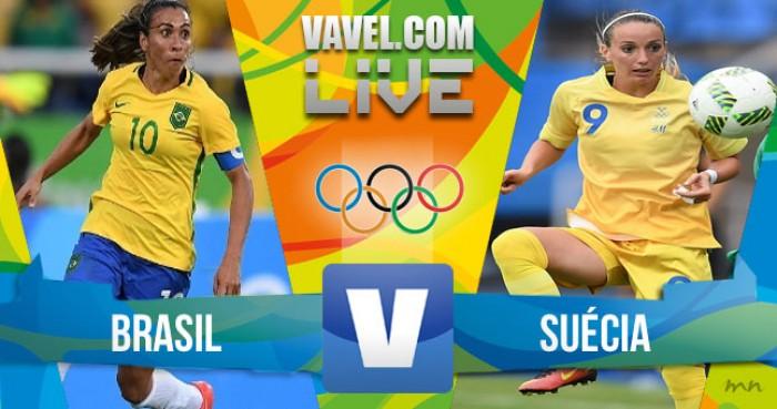 Resultado Brasil x Suécia no futebol feminino da Rio 2016 (5-1)
