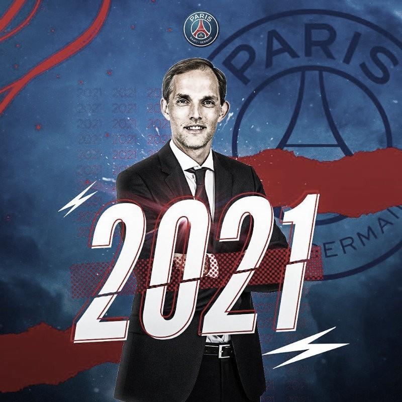 Paris Saint-Germain amplia contratode Thomas Tuchel até 2021