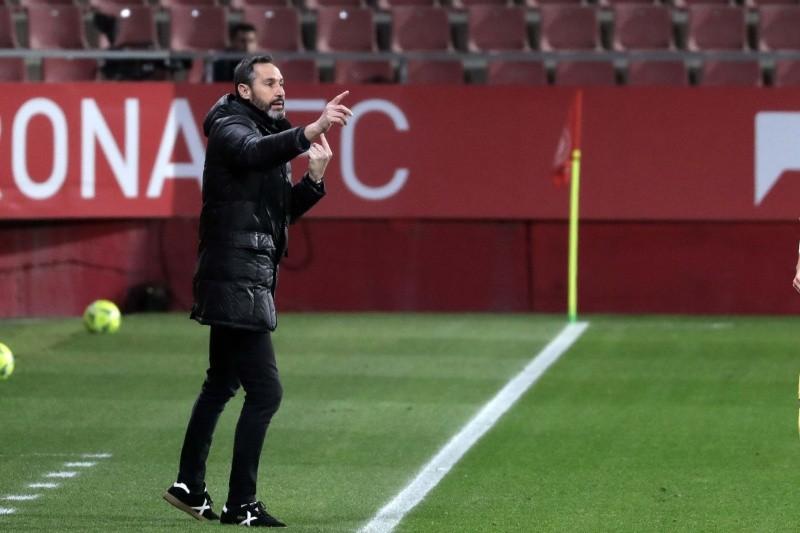 Vicente en el partido ante el Girona. Fotografía: RCD Espanyol