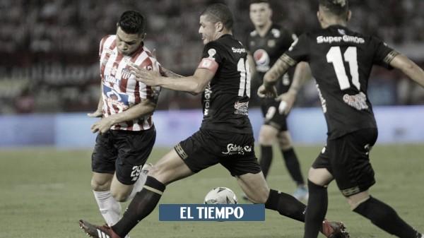 Datos del partido de ida entre Junior de Barranquilla y América de Cali