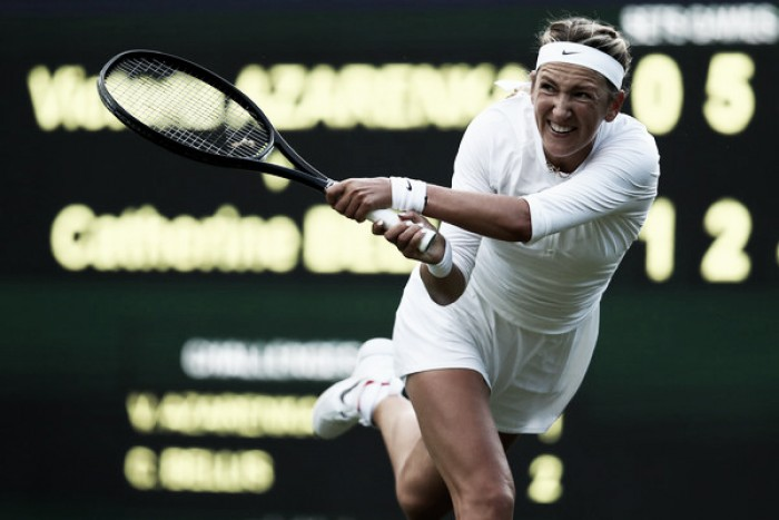 Azarenka, Sobolenko off to winning start in Wimbledon
