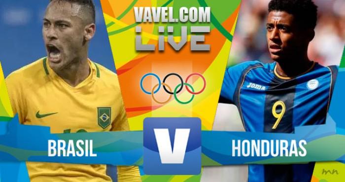 Resultado Brasil x Honduras no futebol masculino da Rio 16 (6-0)