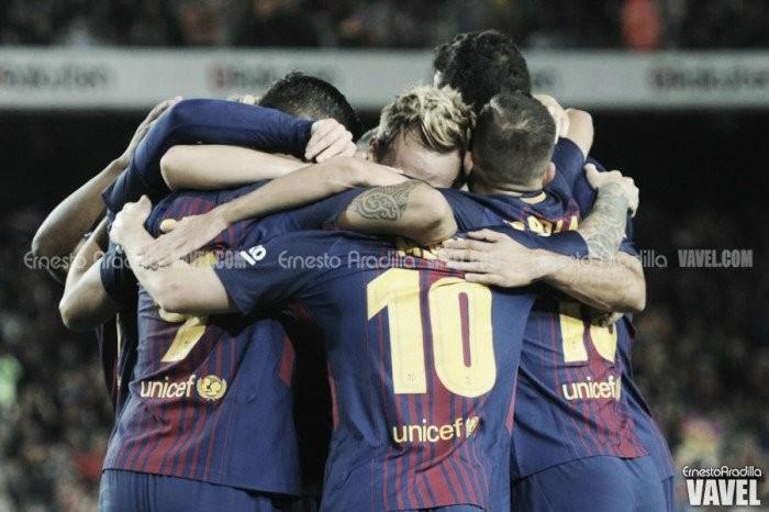 Denis y Paulinho consiguen los tres puntos para el Barça