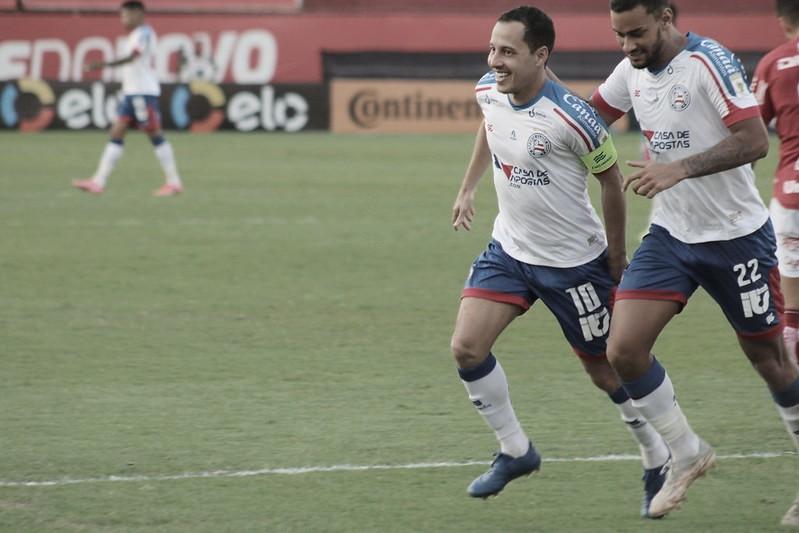 Bahia domina Vila Nova, larga na frente e fica perto de avançar na Copa do Brasil
