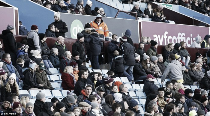 Aston Villa fans plan series of walkouts in protest against board