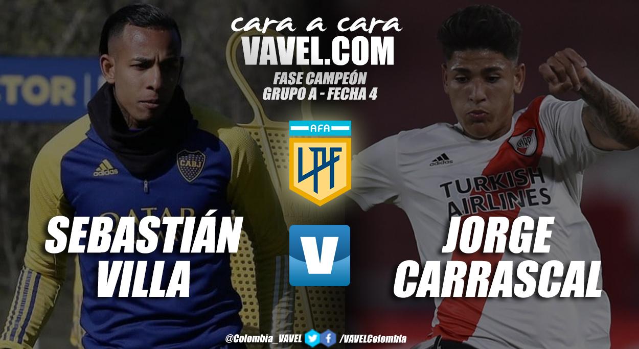 Cara a cara: Sebastián Villa vs Jorge Carrascal