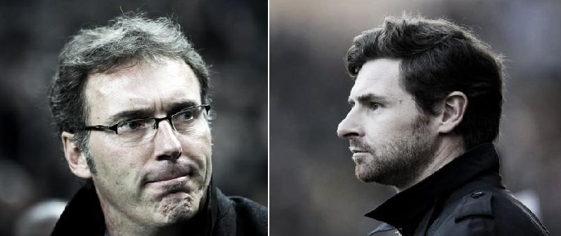 Laurent Blanc y Villas Boas, duelo por el banquillo del Tottenham