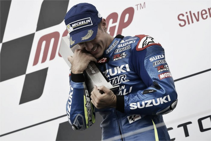 Vinales discusses first ever victory since Suzuki returned to the MotoGP