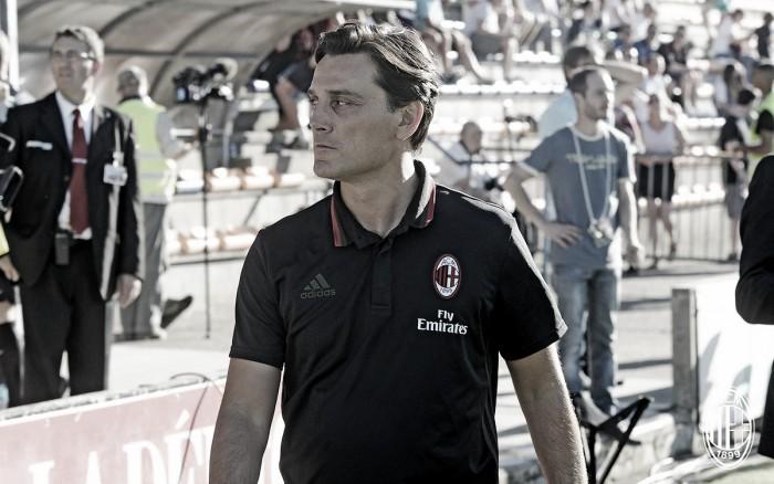 Montella projeta Milan voltado à posse de bola e exalta atacante Lapadula