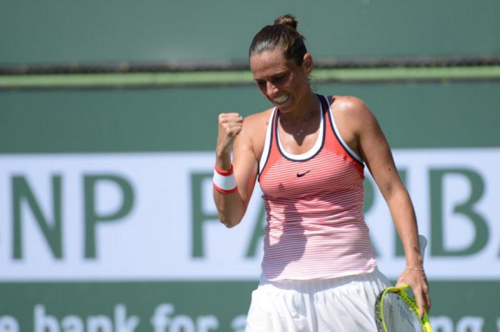 WTA Indian Wells: Roberta Vinci Outplays Elina Svitolina To Advance In The Desert